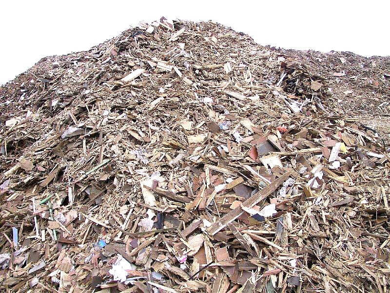 Construction and demolition wood waste