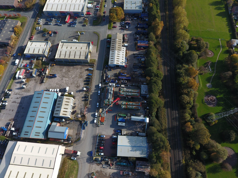 Aerial view (b) Refgas facility